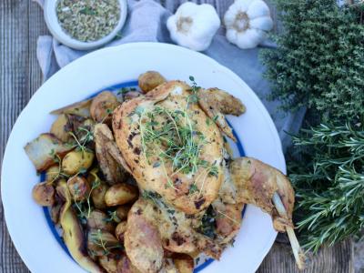 Kylling med porrer og fennikelfrø